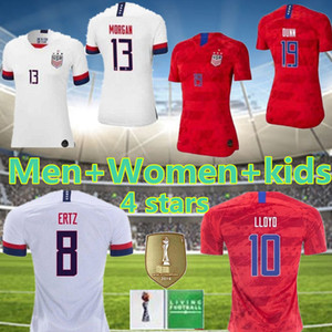Men Women Kids Soccer Christian Pulisic Jersey Alex Morgan Julie Ertz Megan Rapinoe Press Lloyd Heath Yedlin Dempsey Altidore Football Shir on Sale