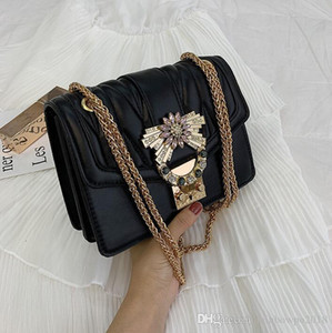 Wholesale Wholesale Brand Women Handbag Port Wind Embroidery Leather Slant Bag Wide Shoulder Belt Rhombic Women Shoulder Bag New Type Leather Women Ba