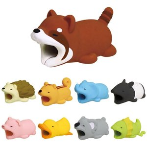 Wholesale Cute Animal Bite USB Lightning Charger Data Protection Cover Mini Wire Protector Cable Cord Phone Accessories Creative Gifts