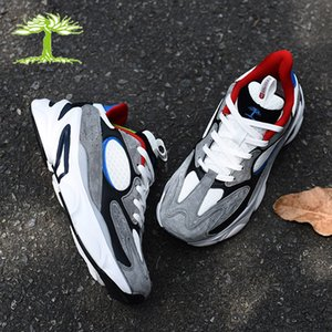 shose negro al por mayor-TreePeri Fashion Chunky Zapatos casuales Hombres Mujeres Negro Gris Multi Color Sneakers White Multi Running Shase Outdoor Entrenadores