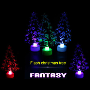 Wholesale Christmas Changing Color Night Light Acrylic Xmas Tree Santa LED Lamp Home Party Decor HUG Deals