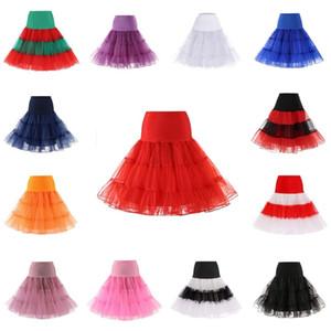 Tulle Skirts Women Fashion High Waist Pleated Tutu Skirt Vintage 50s Petticoat Crinoline Underskirt Faldas Women Skirt cpa668