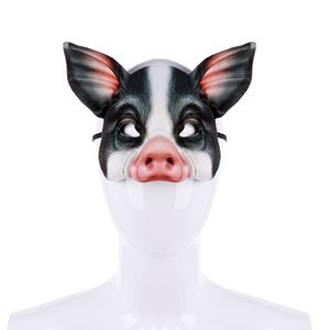 Wholesale Frightening Adjustable Halloween Party Novelty Animal Mask Pig Head All Face Mask For Adult Unisex Funny For Masquerade