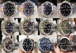 12 Style Mens Automatic 2813 BP Factory Watch Jubilee Bracelet Men 126334 Ceramic 214270 Gold Steel 116613 Wimbledon 116400 Watches Box