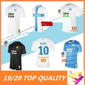 Wholesale 19 Olympique de Marseille Soccer jersey OM Marseille Maillot De Foot PAYET L GUSTAVO THAUVIN football shirts