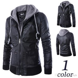 Wholesale new winter men's leather jacket coat classic leather motorcycle leather jacket leisure clothing Plus velvet Stand collar