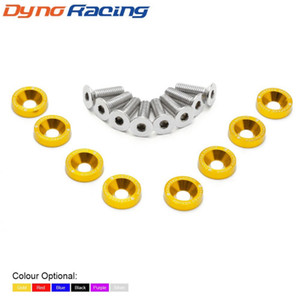 Wholesale civic fender washers resale online - Racing car Fender Washers Aluminum Screws mm washers and bolt For Honda Civic Integra TT101329