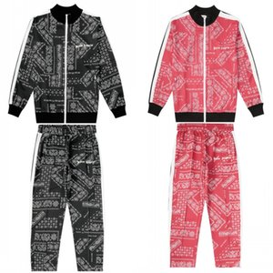 Wholesale 19FW Palm Angels Mens Designer Tracksuits Men Women Tracksuit Mens Designer Jackets Black Red Autumn Winter Jogger Sport Suit S XL