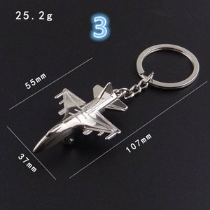 Wholesale 3d Creative Keychain Metal Naval Fighter Aircraft model Aviation Gifts Key ring Model Key chain Air Plane Aircrafe Keyring