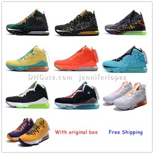 Wholesale James Mens Basketball shoes Equality Oreo Bred Lebron Lebron XVII Battleknit Designer cushion Baskets LBJ Sports Sneaker Trainers jennife
