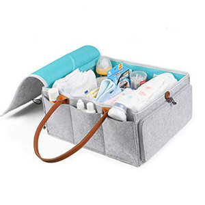 Baby Practical Large Capacity Felt Travel And Home Detachable Cleaning Diaper Storage Bag Durable Pouches Easy To Carry Foldable