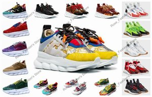 Wholesale 2019 new arrivals chain reaction ultra lightweight men women ladies sneakers link embossed fashion casual shoes luxury designers trainers