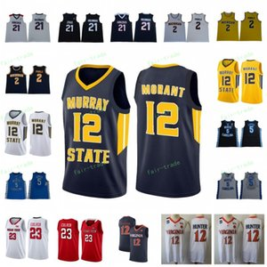 Wholesale 12 Ja Morant NCAA jersey Murray State Gonzaga Bulldogs Rui Hachimura Michigan Wolverines Poole North Carolina Tar Heels Nassir Little