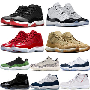 11 11s bred Jumpman men women basketball shoes high concord 45 cap and gown win like 96 Heiress Black mens stylist sneakers
