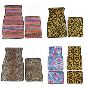 Sunflower Car Mat Foot Carpets Neoprene 2pcs Per Set Non Slip Floral Colors Mix Fashion 31dy F1 on Sale