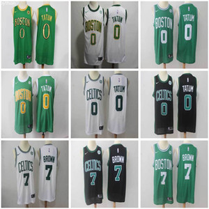 Wholesale 0 Jayson Tatum Boston Celtics Jaylen Brown City Edition Swingman New Season Men s Basketball Jerseys