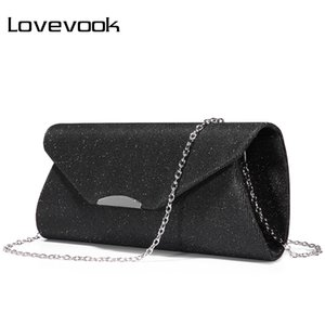 Wholesale LOVEVOOK fashion women evening clutches bag female crossbody bag ladies envelope purse for party with chains handbags ladies