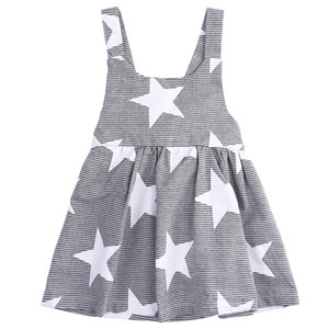 ropa de disfraces de bebe al por mayor-Hot Baby Girls Dress Fashion Party Pageant Summer Sin mangas Stars Sundress a rayas Ropa para niñas Ropa para niños