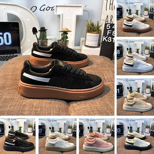 Wholesale 2019 Fashion Breaker LTHR RIHANNA Designer Shoes Luxury Triple Black White Pink Skateboard Shoes Creepers Running Sneakers For Mens Womens