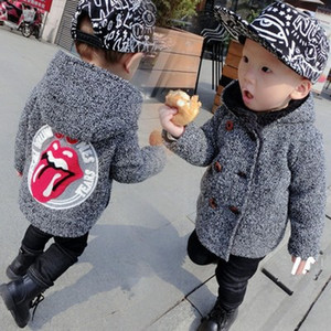 baby coat clothing kids clothes Infant Boys kids wear Children trency clothing boy windbreaker jacket girls2019 Winter wool warmer Hoodies on Sale