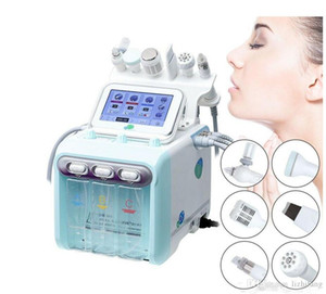 microdermabrasion para casa venda por atacado-Portátil em Hydro Peel Microdermoabrasão Hydra Facial Hydrafacial Limpeza Profunda RF RAF Face Levante Apertação Spa Beauty Machine Home Uso