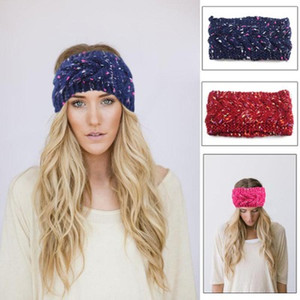 Women Knitted Headband Stretch Winter Thick Warm Crochet Hair Bands For Adult Lady Cross Fashion Turban Hair Accessory EEA868