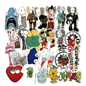 Wholesale 27 set KAWS Dissected Companion Graffiti Sticker Personality Luggage DIY stickers cartoon PVC Wall stickers bag accessories Kaws toys