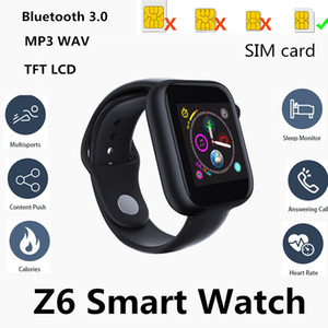 Wholesale Newest Z6 Smartwatch For iOS Iapple Smart Watch Bluetooth Watches With Camera Supports SIM TF Card For Android Smart Phone PK DZ09 GT08