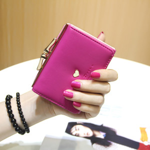 Wholesale New female love letter Japanese and Korean simple cute small wallet wallet