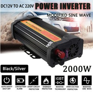 Wholesale Solar Power Inverter V V W Peaks Auto Modified Sine Wave Voltage Transformer Power Supply Converter Car Charge USB