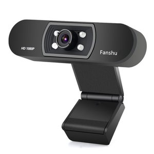 Wholesale Fanshu USB Web Digital Camera Full HD P Webcam with Microphone Clip on Megapixel CMOS Web Cam for Computer PC Laptop