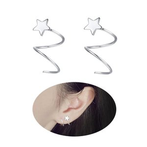 Wholesale 925 Sterling Silver Star Earrings for Women Teen Girls Fashion Wrap Earrings