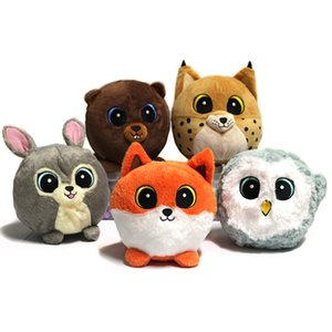 Wholesale Forest Animals Plush Toy Soft Cartoon Bear Rabbit Owl Fox Leopard Stuffed Toys Children Plush Doll Kids Funny Birthday Gifts