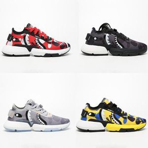 Wholesale Men Neighorhood POD S3 Running Shoes On Sale Red Yellow Black Grey NHBD P O D TS1 Sneaker