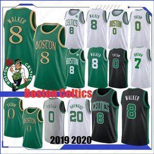 Wholesale Kemba Walker Boston Celtics Jayson Tatum Jaylen Brown Gordon Hayward Top quality Basketball Jersey