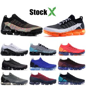 Best Quality KNITE 2.0 CNY Running Shoes Black Multi-Color Zebra Black Hot Punch BHM Triple Black White Men Women Designer Sneakers