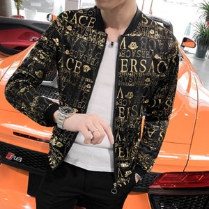 Wholesale Fashion Jacket Men Brand New Slim Fit Sun Protection Clothing Summer Long Sleeve Print Bomber Jacket Plus Size XL M Hot