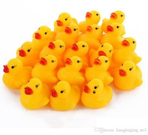 Wholesale duck toys for kids for sale - Group buy Mini Rubber Duck Bath Duck Pvc With Sound Floating Duck Baby Bath Water Toy For Swimming Beach Gift For Kid EEA25