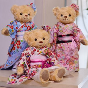 Wholesale 36 CM Kimono national costume teddy bear doll High quality fabric imported from Japan Top grade gift for friends kids Collection toy