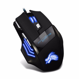Professional 5500 DPI Gaming Mouse 7 Buttons LED Optical USB Wired Mice for Pro Gamer Computer X3 Mouse
