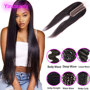 Wholesale deep wave hair middle part for sale - Group buy Malaysian Virgin Hair Lace Closure X6 Lace Closure Middle Part Kinky Curly Straight Human Hair Deep Wave Body Wave inch