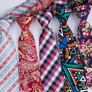 Wholesale famous ties resale online - Famous DiBanGu Brand Red Floral Plaid Mens Ties Wedding Mens Silk Printed Neckties cm Ties For Men Tie Gravata New Cravate