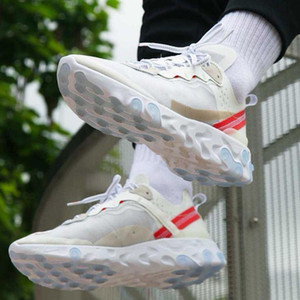 sapatilhas femininas venda por atacado-2020 react element running shoes for mens womens Pack White Sneakers Brand Men Women Trainer Men Women Designer Running Shoes Zapatos
