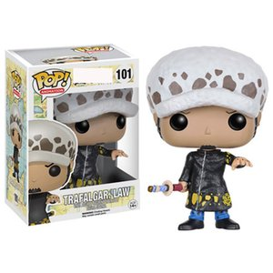 Wholesale 4 styles Funko POP Anime: One Piece trafalgar law Vinyl Action Figure With Box #100 Popular Toy Gify gift