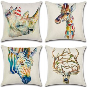 Cross-border special for new animal 3D head pillowcase, cushion sleeve, flax, cross-border home on Sale