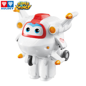 AULDEY Super Wings New Characters Morph Airplane 16 Mini Figures Robots Kids Girl Christmas Toy Teens Transformed Airplane Brithday Gifts