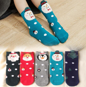 Wholesale Kids Christmas Socks Santa Claus Snow Crew Socks for Baby Boys Girls Holiday Gift