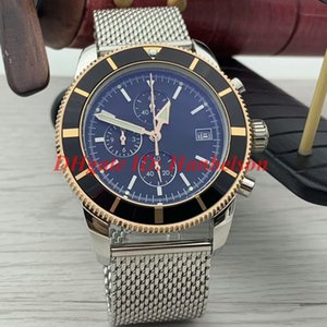Wholesale High quality designer watches mens Japan Quartz movement Chronograph montre de luxe Mesh belt superocean Wristwatches steel case A1331212
