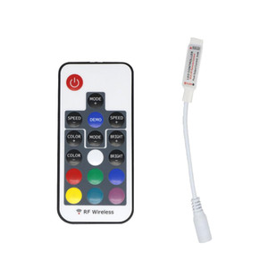 RGB RF remote controller DC5-24V 17 Keys Remote Control Controller For SMD 5050 SMD 2835 LED Strip 4 pins