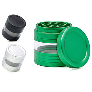 Wholesale oem parts for sale - Group buy Metal Grinder Herb Spice Crusher Parts mm Inches Diameter Tobacco Grinder With Window Nice Gift Choice Colors OEM Welcome